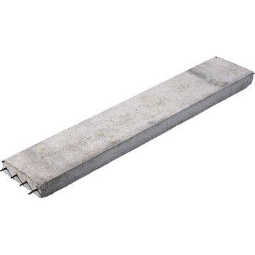 Prélinteau en béton H.5 x l.20 cm x L.1.6 m