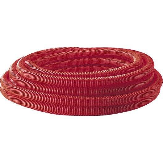 Gaine pour r seaux enterr s rouge mm m - Gaine exterieure pour cable electrique ...