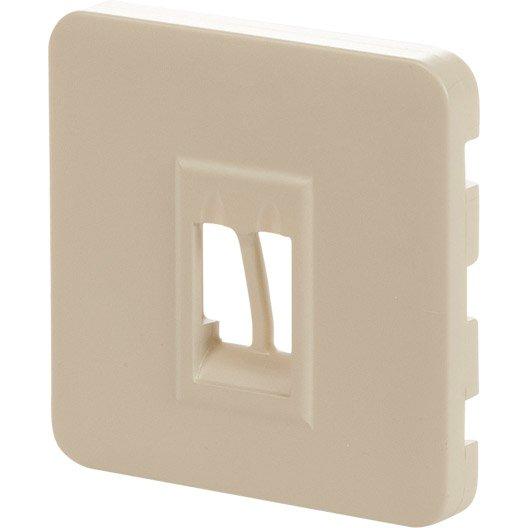 cache prise haut parleur cosy lexman gris dor n 5 leroy merlin. Black Bedroom Furniture Sets. Home Design Ideas