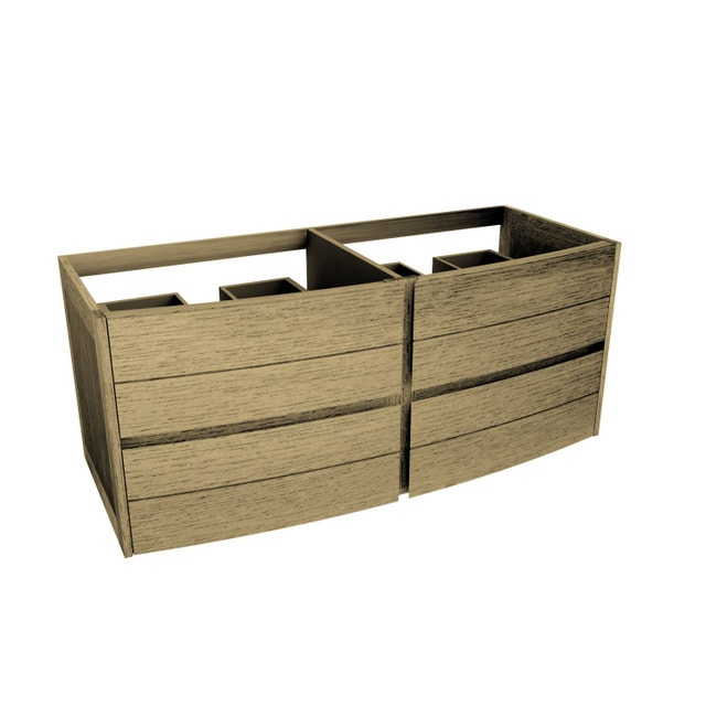 un meuble double vasque multiples tiroirs leroy merlin. Black Bedroom Furniture Sets. Home Design Ideas