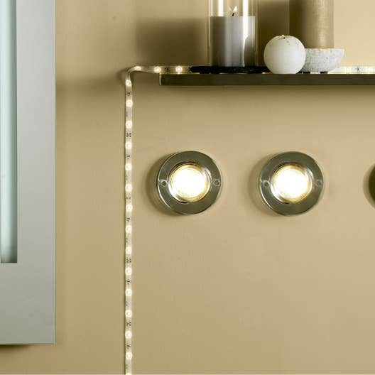 kit ruban led 3m blanc chaud 3500k 190 lumens ip67 stripled paulmann leroy merlin. Black Bedroom Furniture Sets. Home Design Ideas
