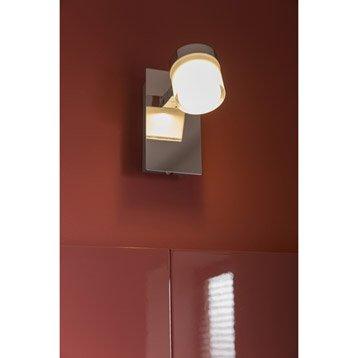 Spot patère Coos, LED 1 x 4.5 W, LED intégrée blanc chaud
