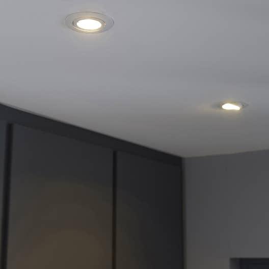 Kit 3 Spots Encastrer Bama Orientable Led Inspire Gu10 Blanc