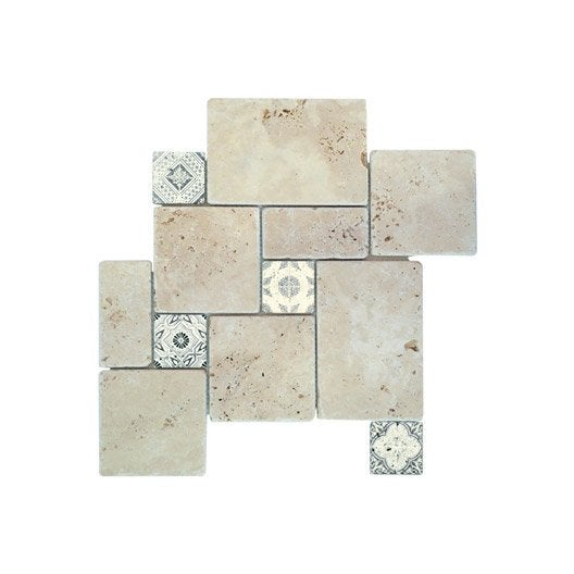 Travertin 10x10. Simple Sol Mosaique Salle De Bain Travertin Tr Tas ...