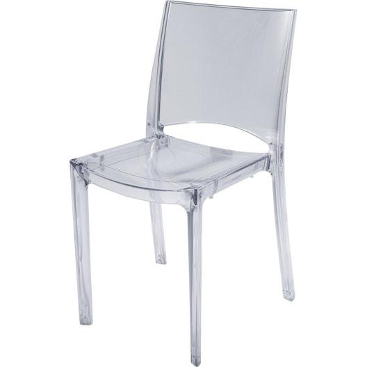 Chaise de jardin en polycarbonate paris lux transparent