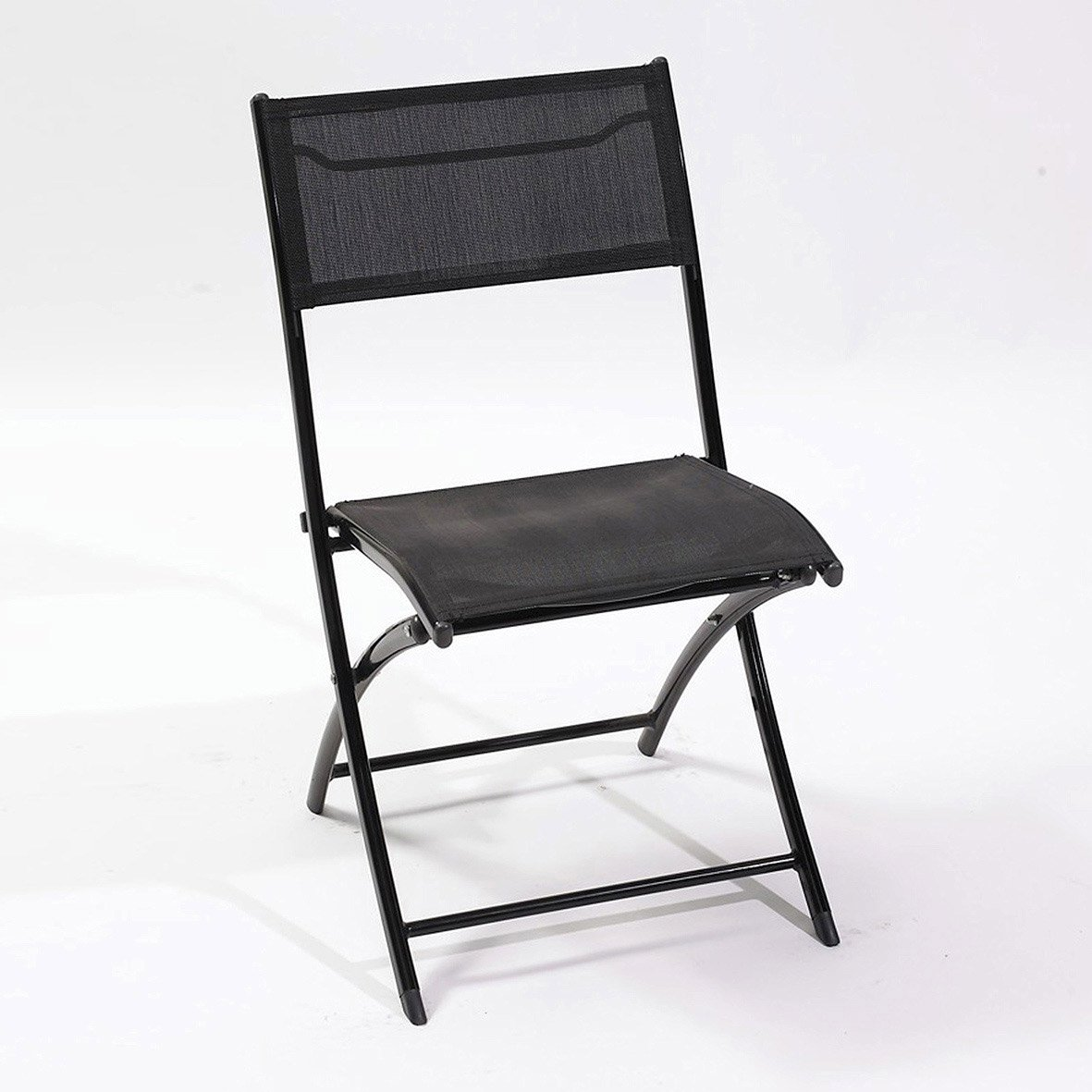 chaise de jardin en aluminium noir leroy merlin. Black Bedroom Furniture Sets. Home Design Ideas