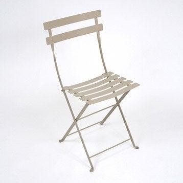 Chaise de jardin en acier Bistro muscade