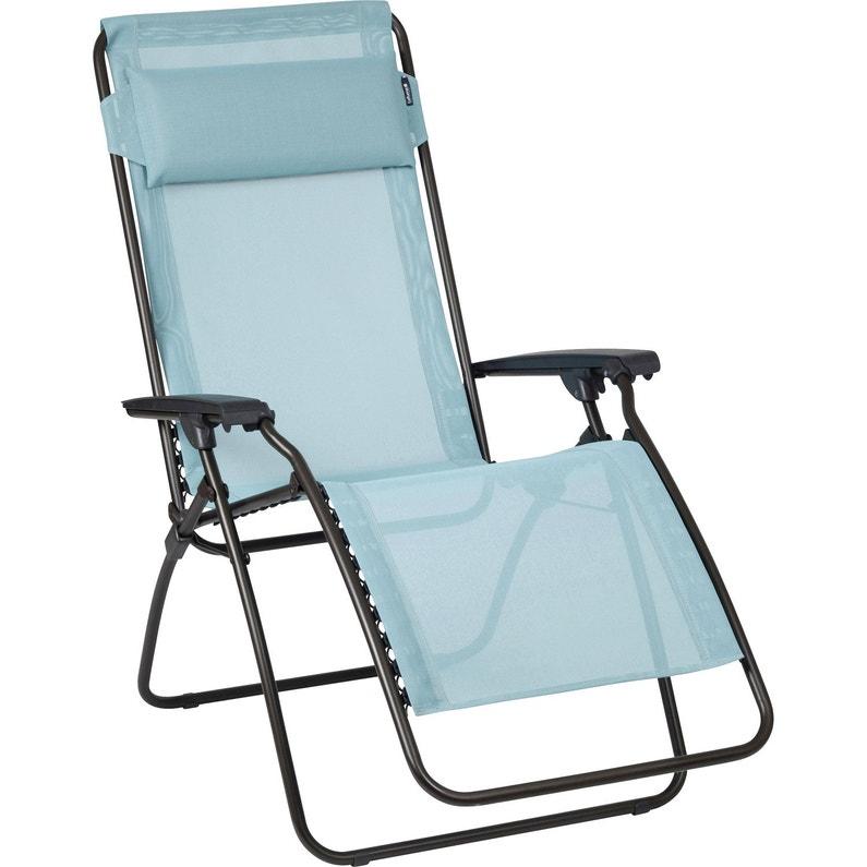 Relax de jardin en acier R clip bleu arctic