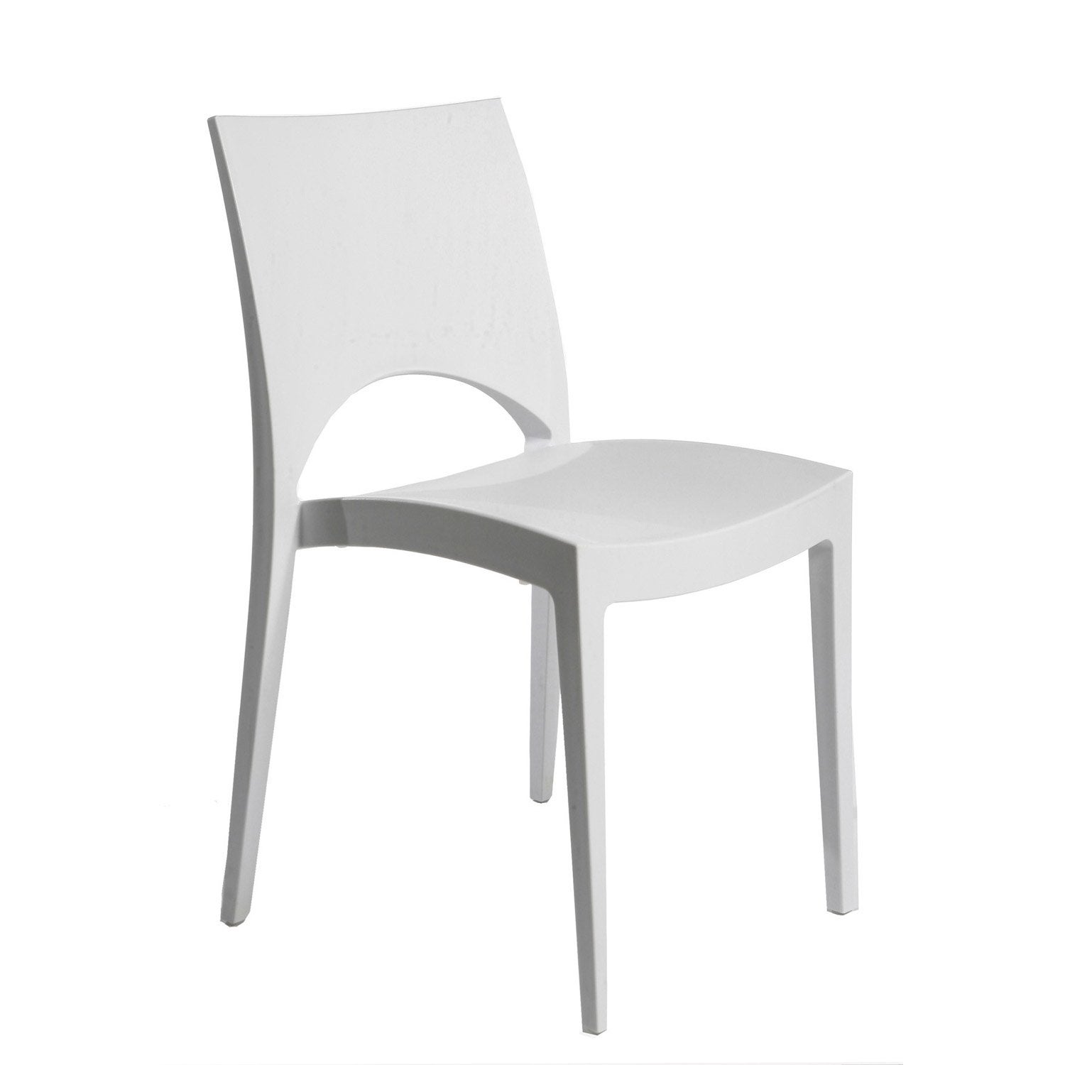Chaise de jardin en r sine paris greenpol blanc leroy merlin - Chaise de jardin empilable ...