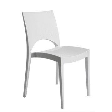 Chaise de jardin en résine Paris greenpol blanc
