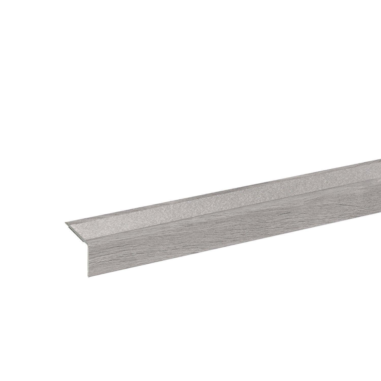 bande de bordure Argent/é descalier-protection 100cm Nez de marche profil d/'angle PVC autoadh/ésif 41x25mm antid/érapant