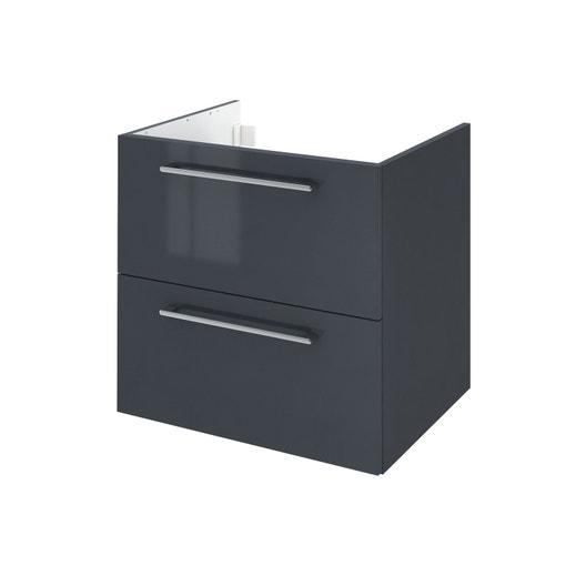 meuble sous vasque x x cm gris remix leroy merlin. Black Bedroom Furniture Sets. Home Design Ideas