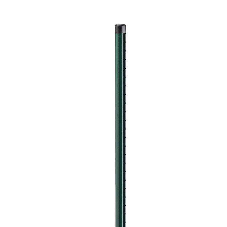 Poteau Acier Galvanisé Rond Univers Vert H200 X L48 X P48 Cm