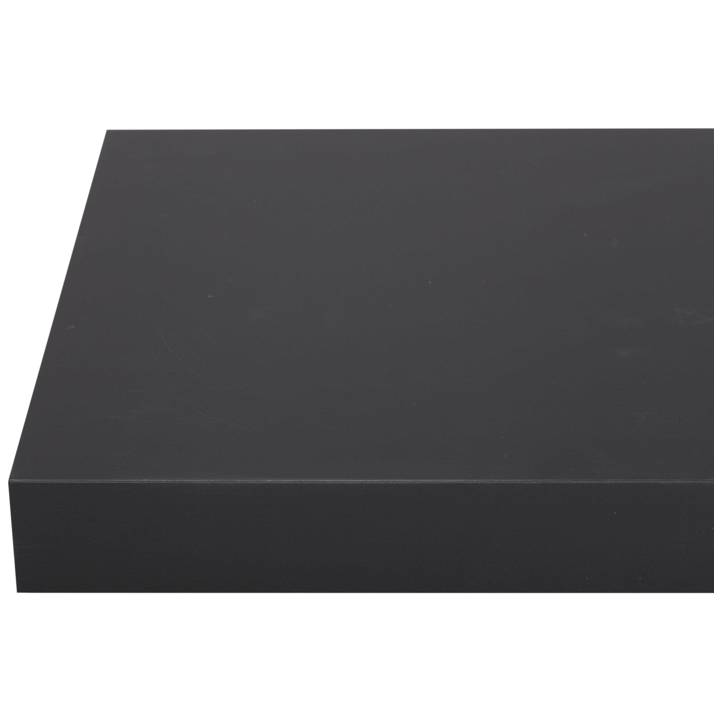 Plan de travail stratifié Mat edition noir Mat L.315 x P.65 cm, Ep.38 mm