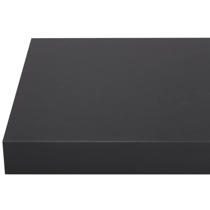 Plan De Travail Stratifie Mat Edition Noir Mat L 315 X P 65 Cm Ep