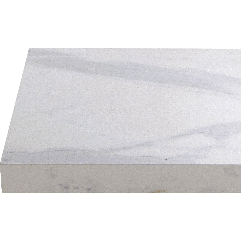 Plan de travail stratifié Effet marbre blanc Mat L.315 x P.65 cm, Ep.38 mm