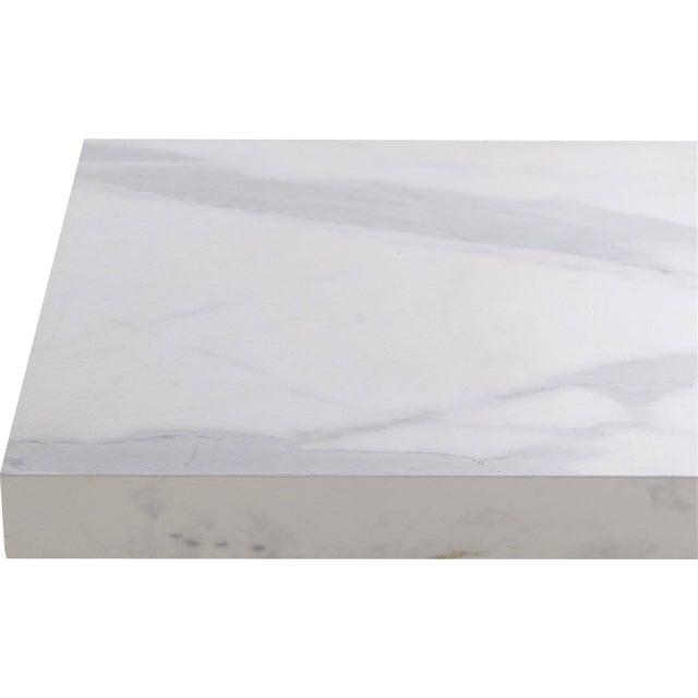 Plan De Travail Stratifie Effet Marbre Blanc Mat L 315 X P 65 Cm