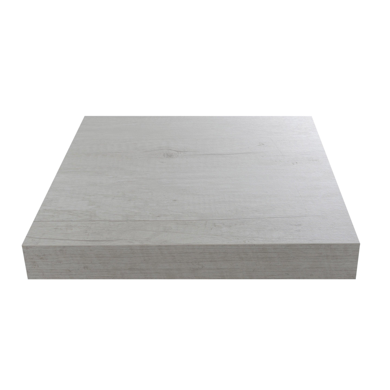 Plan de travail stratifié Planky blanc Mat L.315 x P.65 cm, Ep.38 mm
