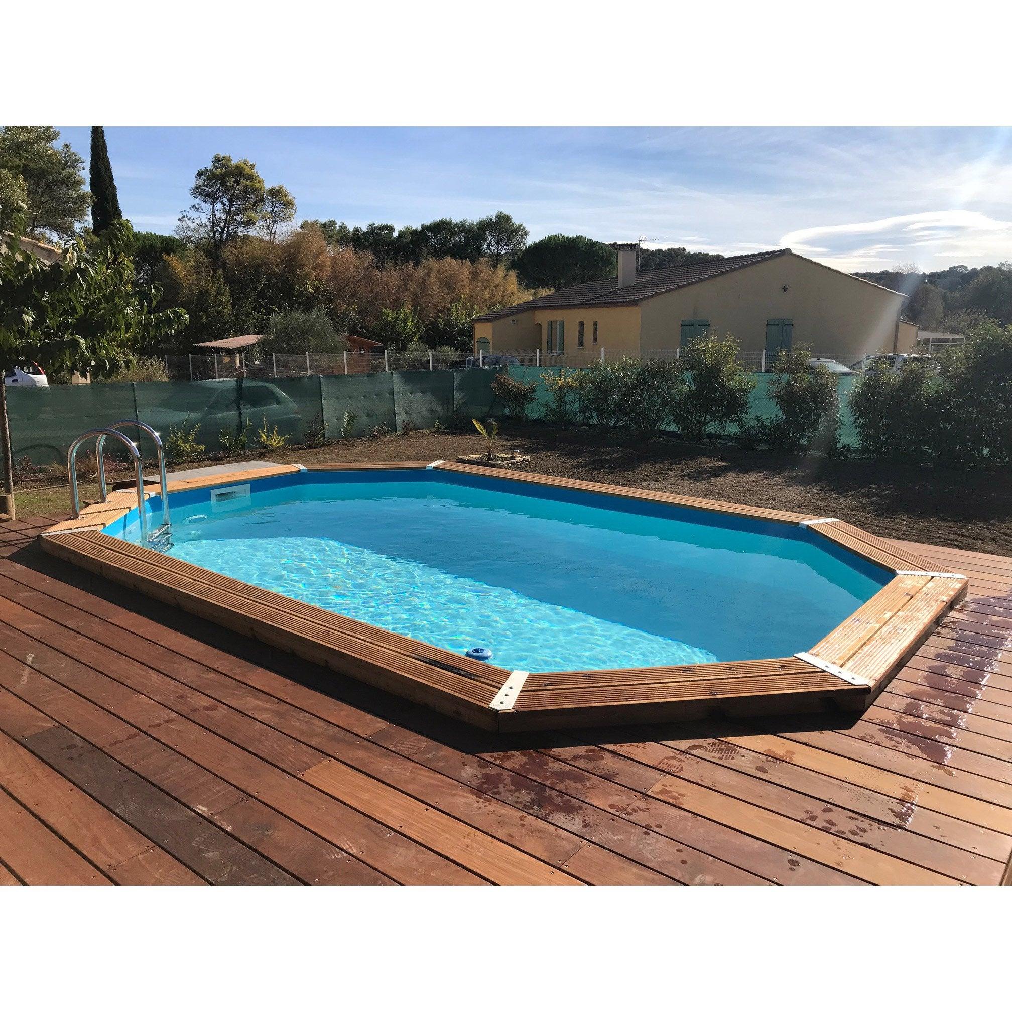 piscine hors sol ronde Dourdan