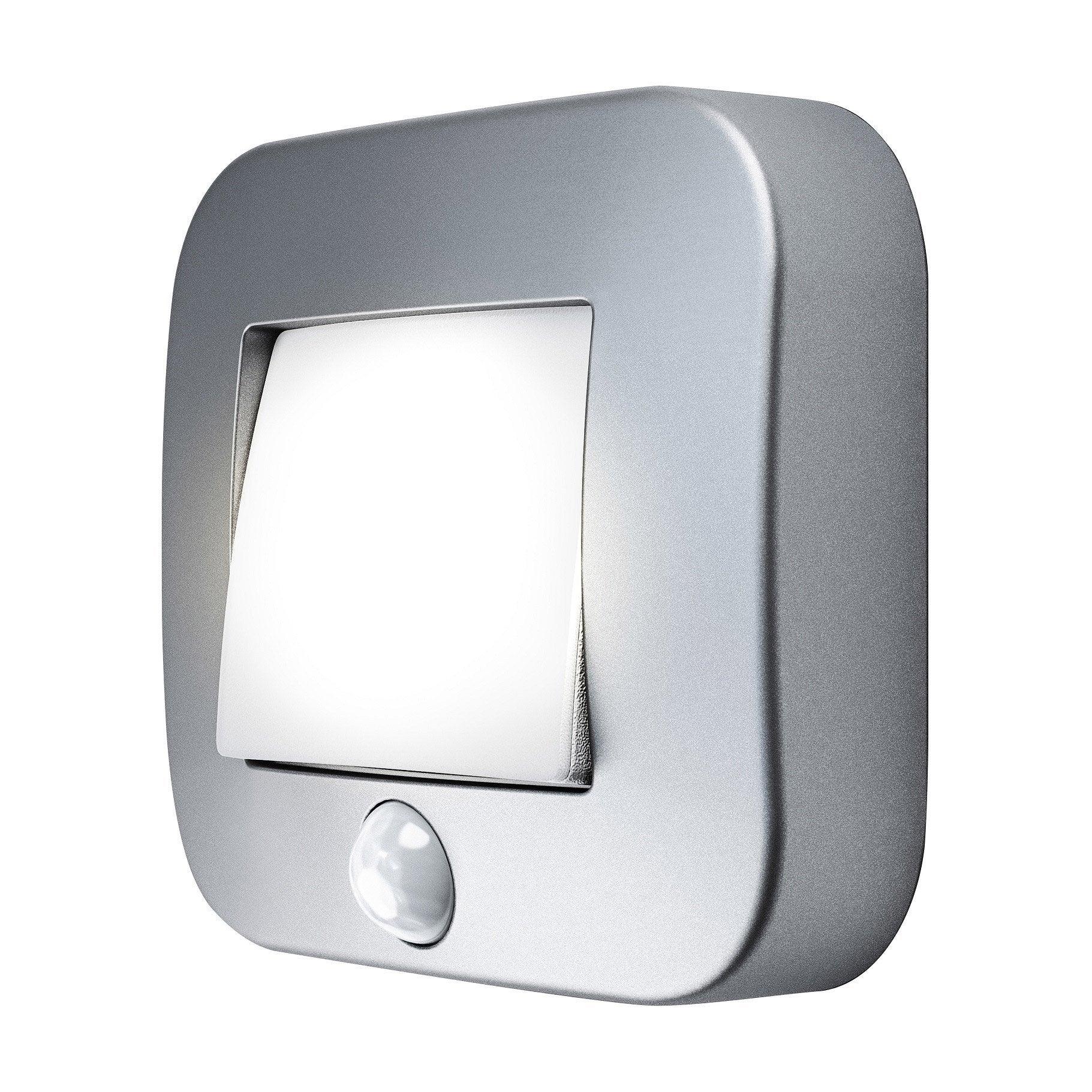 Veilleuse à détecteur LED intégrée Nightlux argent, Ledvance