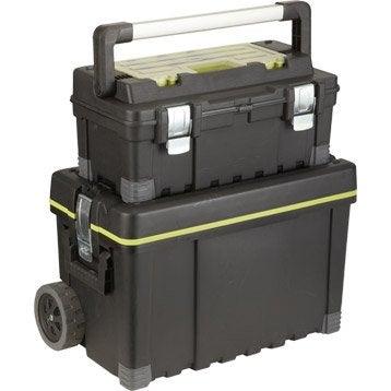 Roulante + boîte à outils de chantier plastique KETER, L.64.5 cm