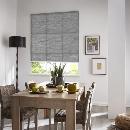 Store enrouleur tamisant Straight, gris, 145x190 cm