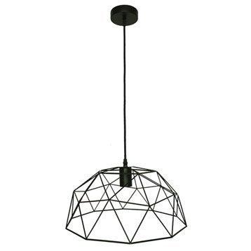 Suspension Design Wireframe métal noir 1 x 60 W INSPIRE