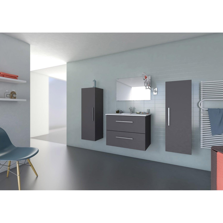 meuble sous vasque et miroir x x cm carla. Black Bedroom Furniture Sets. Home Design Ideas