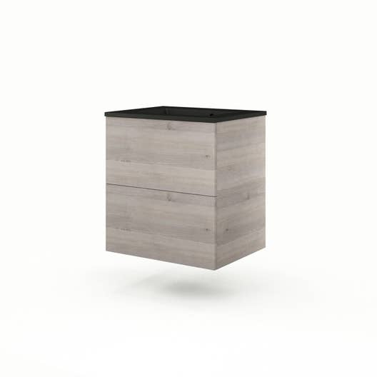 meuble vasque 61 cm ch ne gris neo line leroy merlin. Black Bedroom Furniture Sets. Home Design Ideas