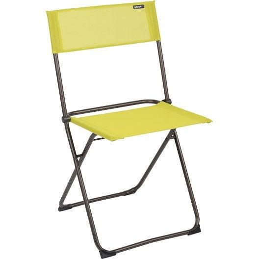 chaise de jardin en acier chaise balcony papageno leroy merlin. Black Bedroom Furniture Sets. Home Design Ideas