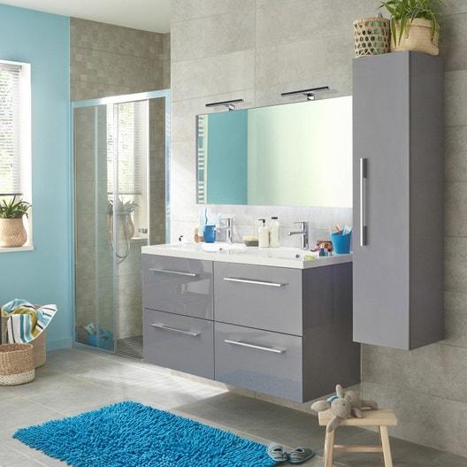 meuble de salle de bains gris maelle leroy merlin. Black Bedroom Furniture Sets. Home Design Ideas