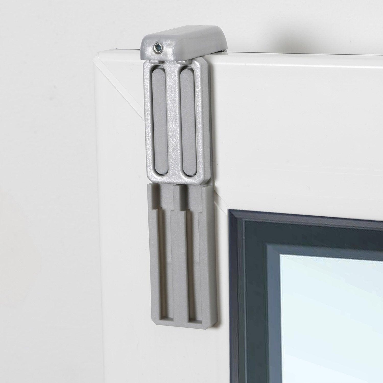 kit de 2 supports avec joint et extension gris pour tout type de store leroy merlin. Black Bedroom Furniture Sets. Home Design Ideas