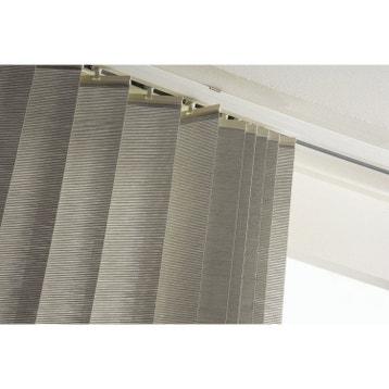 rail lamelles verticales orientablesblanc 120 cm