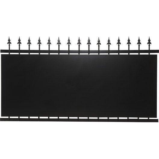 clôture fer tangara noir, h.108 x l.200 cm   leroy merlin