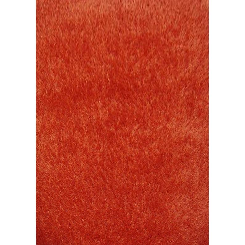 tapis orange shaggy lilou l120 x l170 cm - Tapis Orange