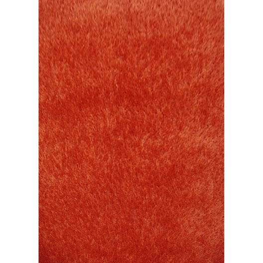 tapis orange shaggy lilou x cm leroy merlin. Black Bedroom Furniture Sets. Home Design Ideas