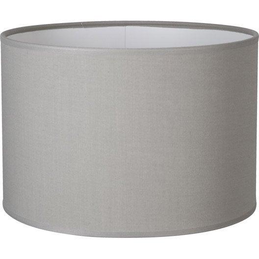 abat jour tube 25 cm coton ciment leroy merlin. Black Bedroom Furniture Sets. Home Design Ideas