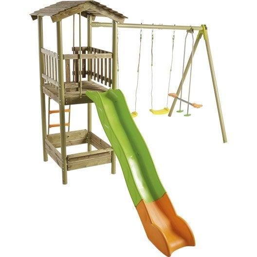 aire de jeux bois armando trigano, h.250 cm | leroy merlin