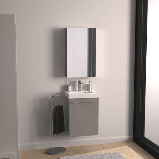 Leroy Merlin Salle De Bain Remix Gris ~ meuble de salle de bains moins de 60 gris argent remix leroy