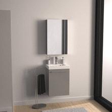 Meuble de salle de bains moins de 60, gris / argent, Remix