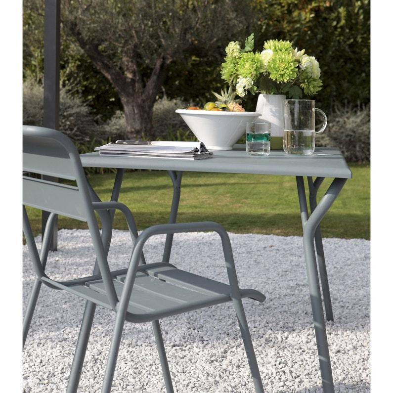 Table de jardin de repas FERMOB Monceau rectangulaire gris orage 6 personnes