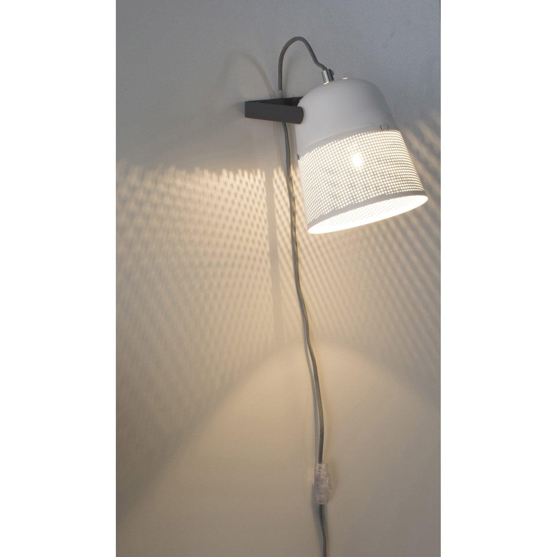Applique, design e14 91460 métal blanc/gris, 1 COREP
