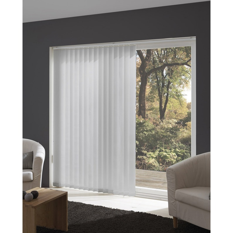 rail lamelles verticales orientables aluminium 280 cm leroy merlin. Black Bedroom Furniture Sets. Home Design Ideas