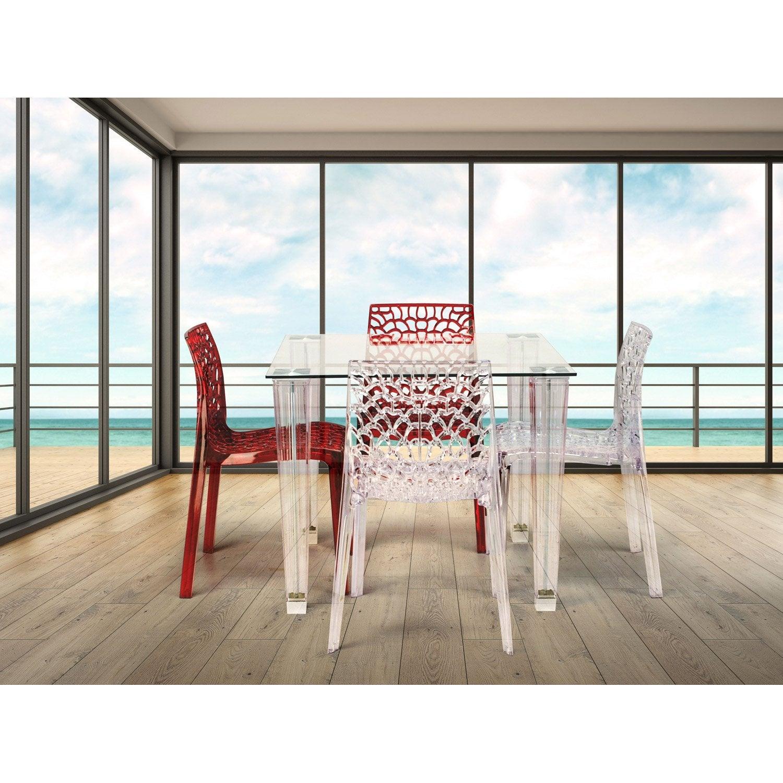 Chaise de jardin en polycarbonate Grafik lux transparent