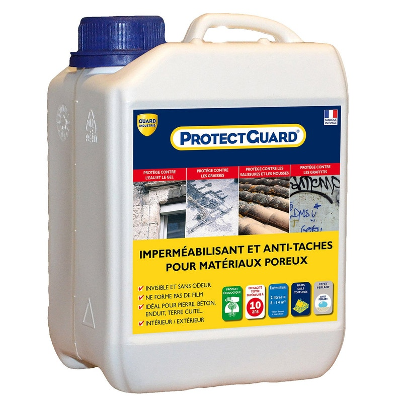 Imperméabilisant Façade Et Sol Extérieur Protectguard 2l Incolore