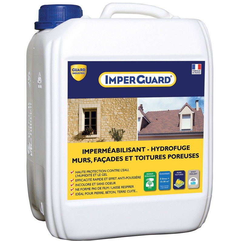Imperméabilisant Hydrofuge Façade Et Toiture Imperguard 5l Incolore