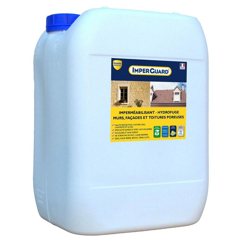 Imperméabilisant Hydrofuge Façade Et Toiture Imperguard 20l Incolore