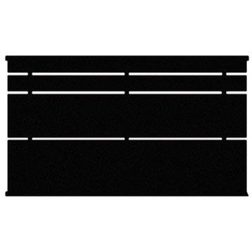 Clôture acier Cassiope apprêt noir à peindre, H.85 x l.191.5 cm