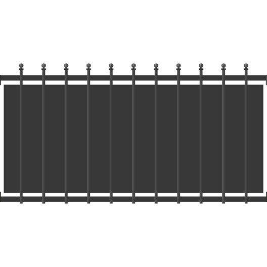 cl ture aluminium cr te festonne gris x cm leroy merlin. Black Bedroom Furniture Sets. Home Design Ideas