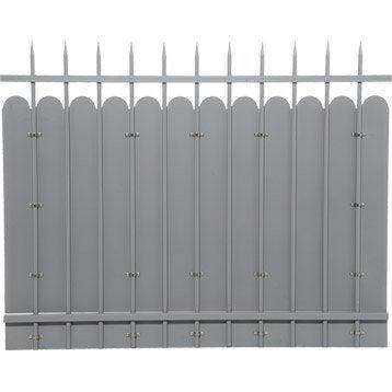 Clôture acier Excalibur apprêt gris à peindre, H.120 x l.150 cm